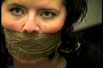25 YEAR OLD DAY CARE WORKER GETS HANDGAGGED, F0RCED TO REMOVE AND STUFF PANTIES IN HER MOUTH, WRAP TAPE GAGGED, TAPE FLOOR TYING AND ESCAPING (D72-13)