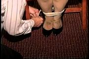 37 YR OLD TAVERN OWNER IS GRABBED, HANDGAGGED, MOUTH STUFFED, CLEAVE GAGGED, AND TIGHTLY TIED TO A CHAIR (D70-3) 2