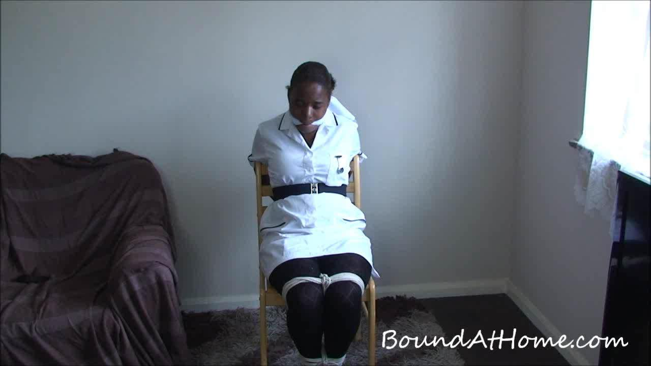 image Bound to a chair blonde ass plugged