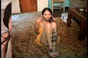 29 YR OLD CHIROPRACTOR IS MOUTH STUFFED, BAREFOOT, TOE -TIED WRAP TAPE GAGGED, BALL-TIED, HANDGAGGED , UPSKIRT PANTIE SHOT, AND F0RCED TO SMELL HER HIGH HEEL SHOE (D70-2) 3