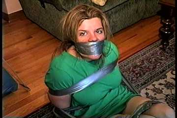 38 Yr OLD SOCIAL WORKER HAS BEEN BALL-TIED WITH DUCT TAPE, HANDGAGGED, TOE-TIED,  GAG TALKING, FOOT TICKLING AND IS F0RCED TO SMELL THE PANTIES THAT WERE STUFFED IN HER MOUTH (D72-17)