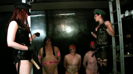 Mistress Rebekka Raynor and Mistress Miranda - Anal Academy Jerk Off and Fuck Drill