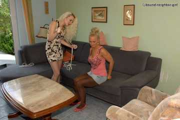 Cindy and Vanessa A - Bondage at home 3