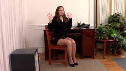 Rental Office Robbery - Rachel Adams Stripped Naked - Encore