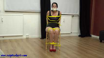Yellow chair bondage
