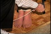34 YR OLD STAY AT HOME MOM GETS HANDGAGGED, MOUTH STUFFED, HAND FEET & TOE TIED, CLEAVE GAGGED AND TIED TO A CHAIR (D70-5) 3