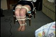 30 Yr OLD BBW SINGLE MOM IS CLEAVE GAGGED, HANDGAGGED, BALL-GAGGED, BLINDFOLDED, MOUTH STUFFED, OTM GAGGED, GAG TALKS & TIGHTLY TIED TO A CHAIR (D70-4) 3