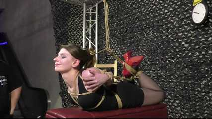 Supertight Bondage Model Casting - The Final Hogtie