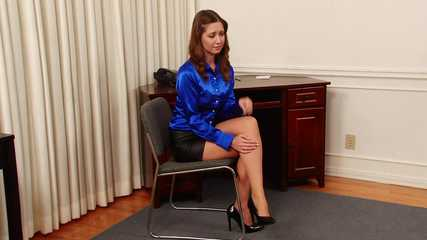 Blackmailed Naked by the Office Creeper - Starring Chrissy Marie