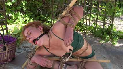 Muriel LaRoja - Folded, Nipple Clamps and Ring Gag !
