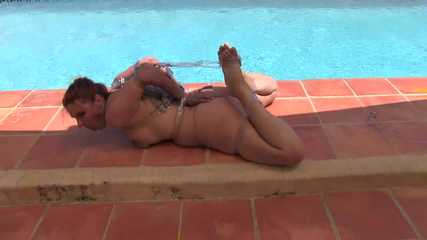 Bettine - Extreme Hogtie by the Pool