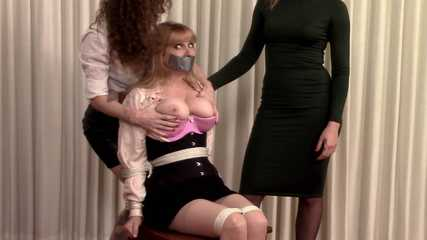Bondage Revenge Pt 1 - LadyBoss Lorelei held captive by Lauren and Celeste